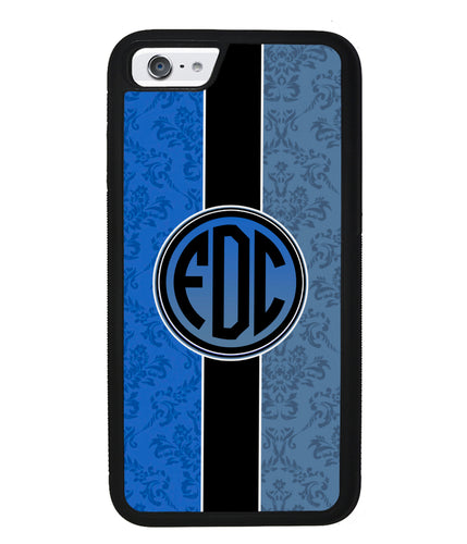 Blue Damask Monogram | Apple iPhone Case