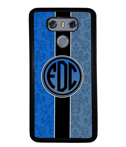 Blue Damask Monogram | LG Phone Case