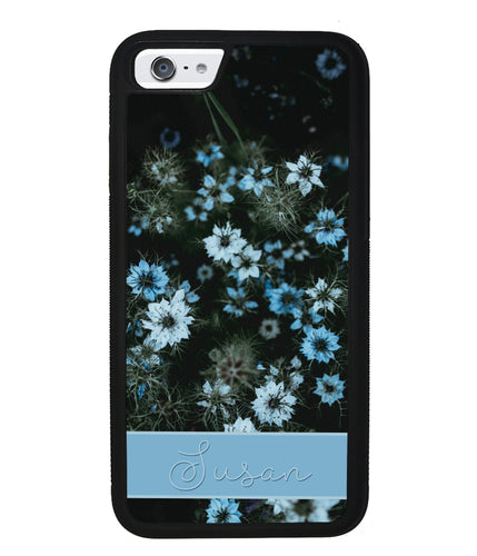 Blue Flowers Personalized | Apple iPhone Case