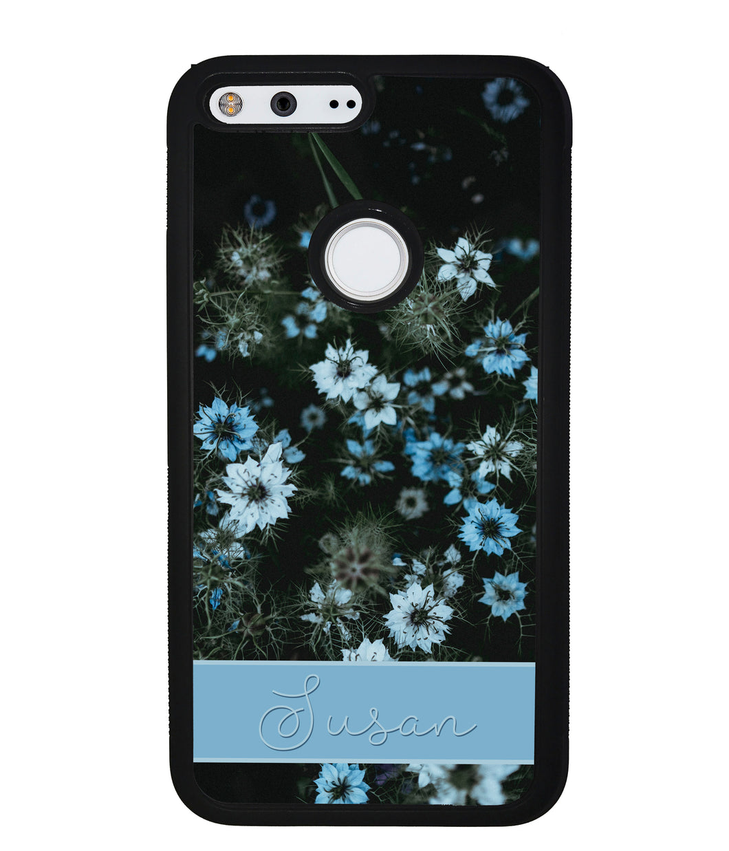 Blue Flowers Personalized | Google Phone Case