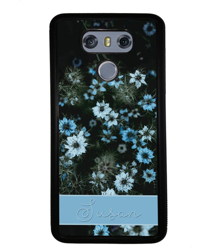 Blue Flowers Personalized | LG Case