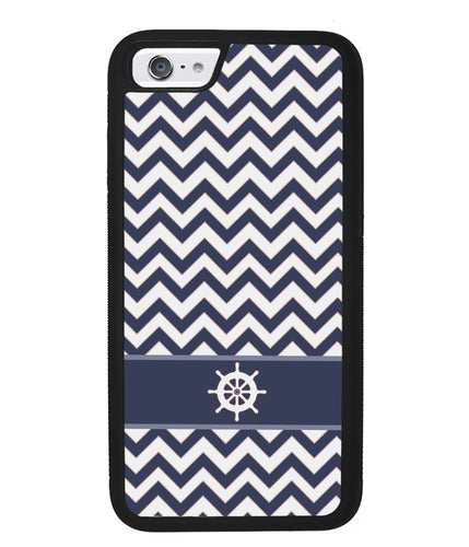 Blue Nautical Helm Chevron |  Apple iPhone Case