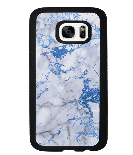 Blue and White Marble | Samsung Phone Case