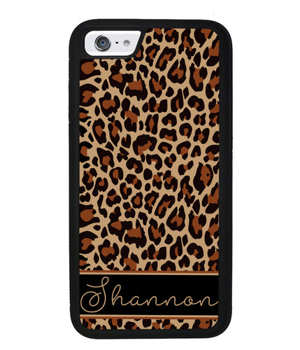 Brown Leopard Skin Personalized | Apple iPhone Case