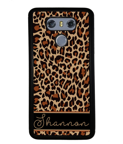 Brown Leopard Skin Personalized | LG Phone Case