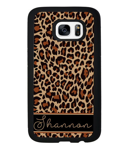 Brown Leopard Skin Personalized | Samsung Phone Case