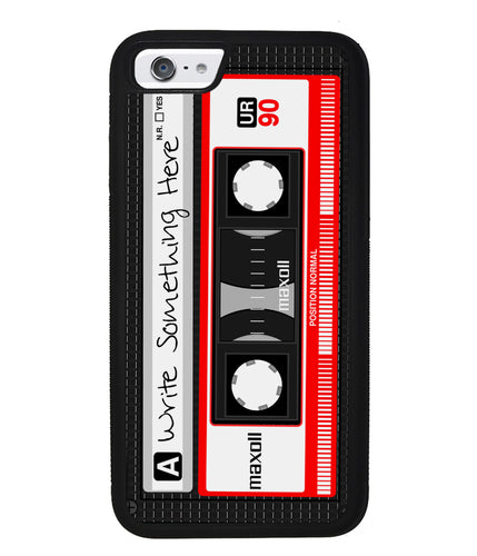 Cassette Tape Black and Red Personalized | Apple iPhone Case