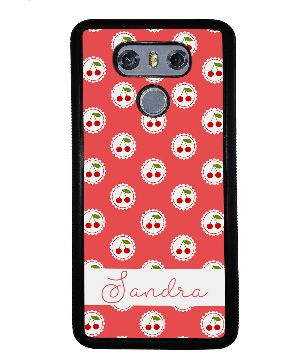 Pretty Little Cherries Cherry Texture Personalized | LG Phone Case