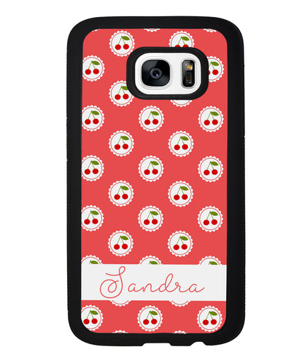 Pretty Little Cherries Cherry Texture Personalized | Samsung Phone Case