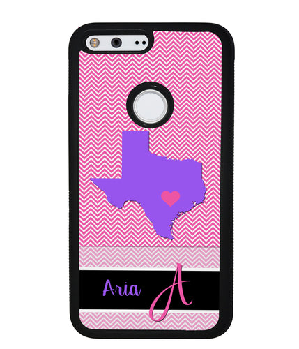Choose Your State Chevron Personalized | Google Phone Case
