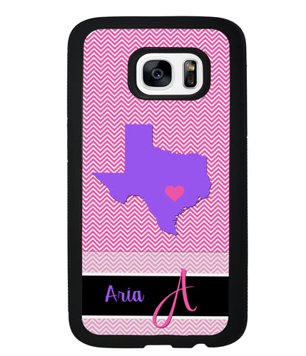 Choose Your State Chevron Personalized | Samsung Phone Case