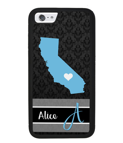 Choose Your State Fleur Di Lei Pattern Personalized | Apple iPhone Case