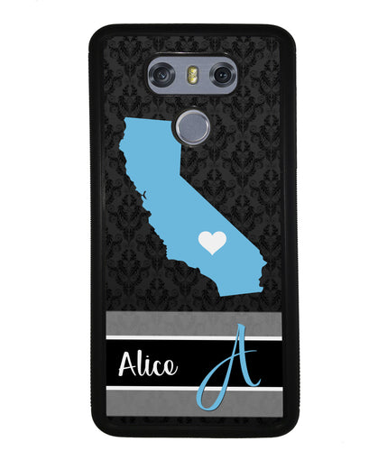 Choose Your State Fleur Di Lei Pattern Personalized | LG Case