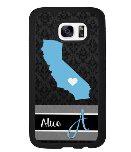 Choose Your State Fleur Di Lei Pattern Personalized | Samsung Case
