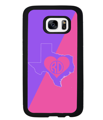 Choose Your State Love Circle Monogram | Samsung Phone Case