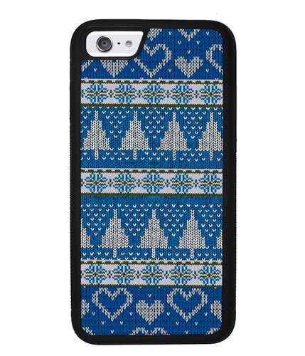 Christmas Ugly Sweater Blue | Apple iPhone Case