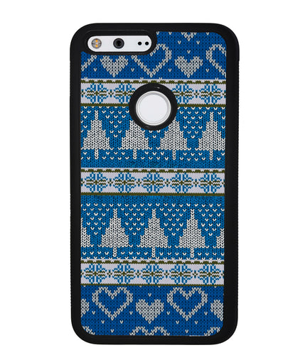 Christmas Ugly Sweater Blue | Google Phone Case