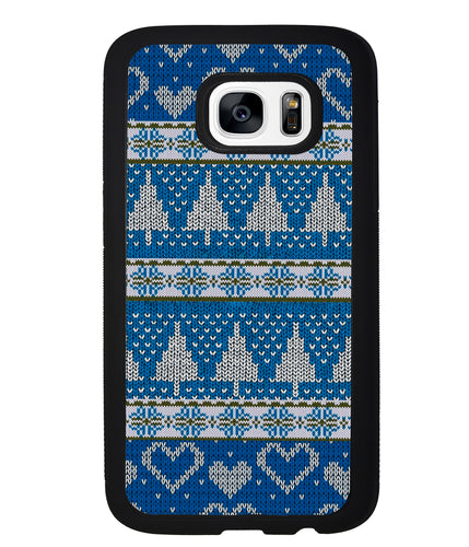Christmas Ugly Sweater Blue | Samsung Phone Case