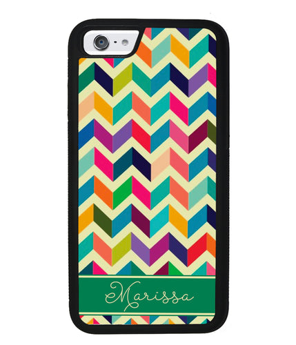 Colored Chevron Personalized | Apple iPhone Case