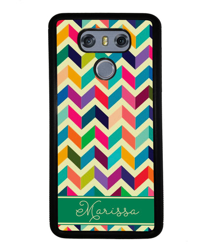 Colored Chevron Personalized | LG Phone Case