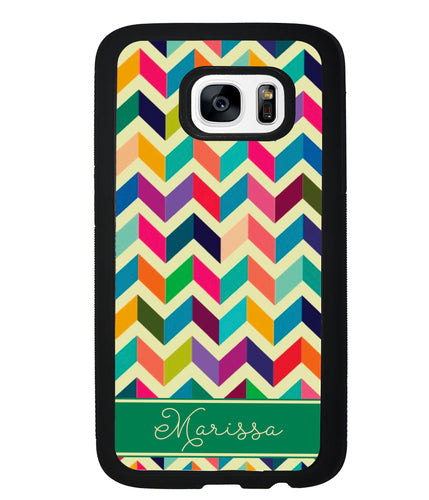 Colored Chevron Personalized | Samsung Phone Case