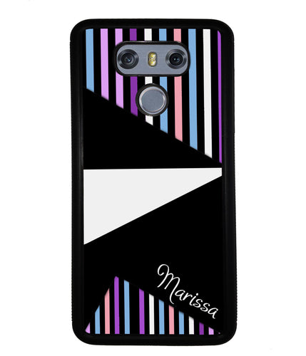 Colorful Pin Stripes and Shapes Personalized | LG Phone Case