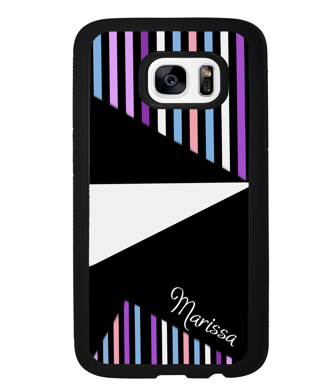 Colorful Pin Stripes and Shapes Personalized | Samsung Phone Case