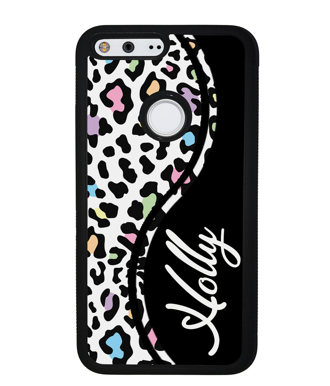 Colorful Cheetah Curvy Personalized | Google Phone Case
