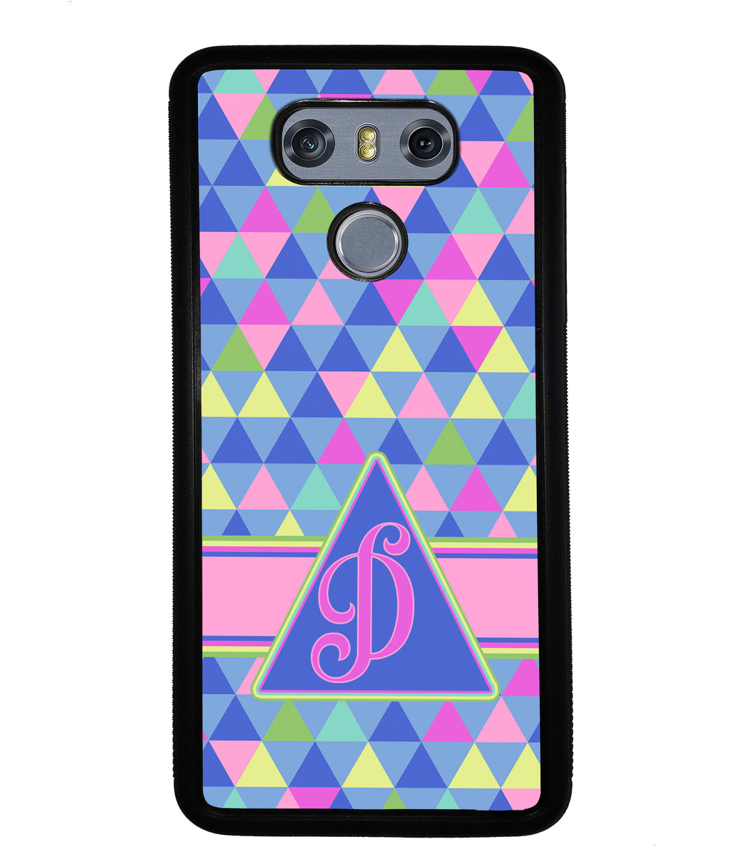 Colorful Neon Color Triangle Initial | LG Phone Case
