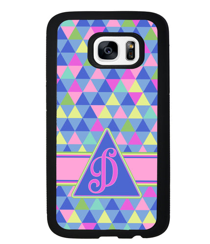 Colorful Neon Color Triangle Initial | Samsung Phone Case
