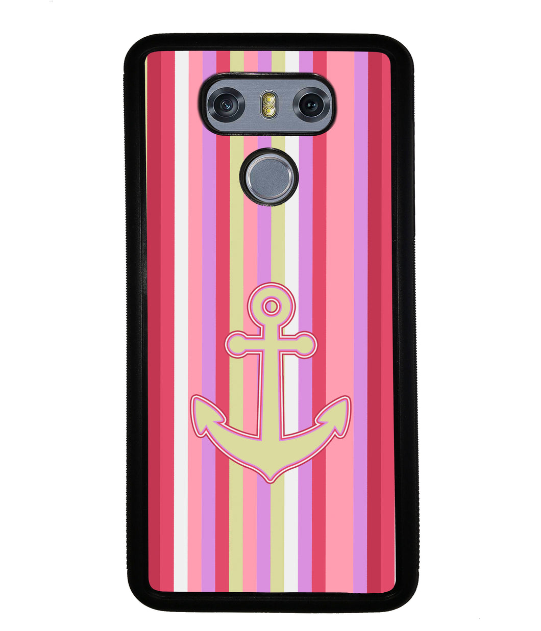 Colorful Pin Stripe Nautical Anchor | LG Phone Case
