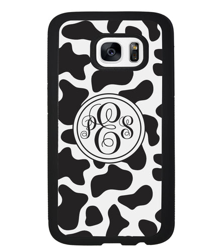 Cow Texture Monogram | Samsung Phone Case