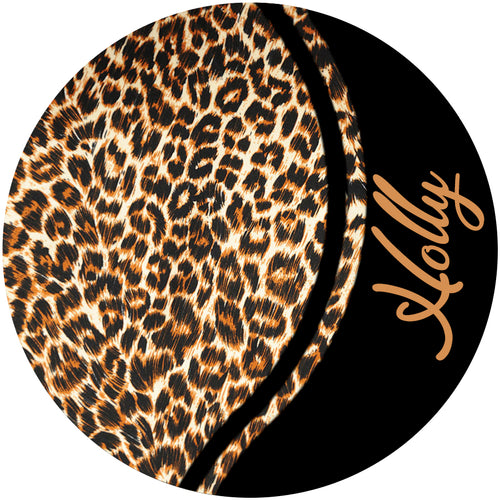 Curvy Leopard Personalized Phone Stand