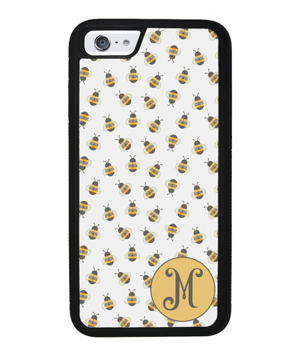 Cute Little Honey Bees Initial | Apple iPhone Case