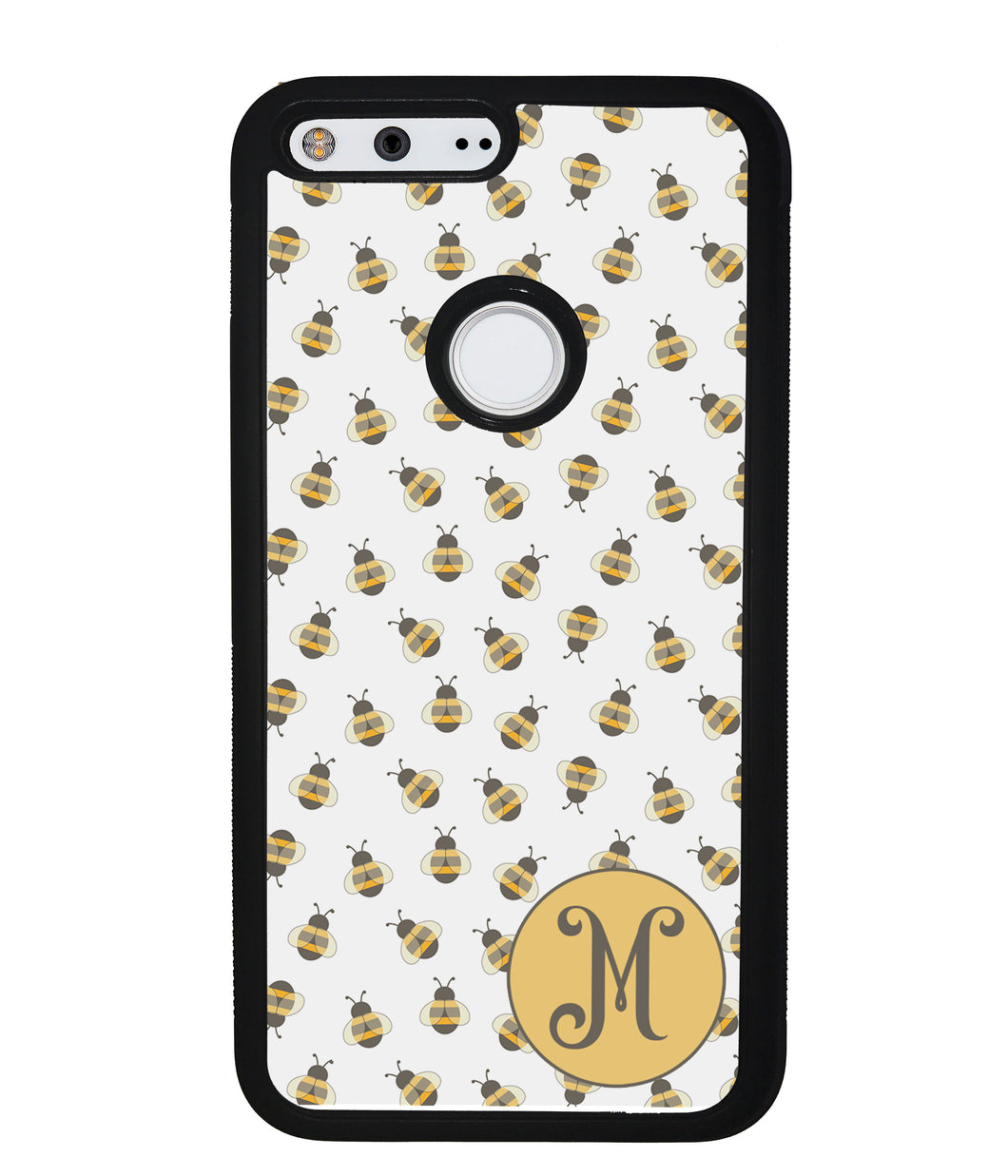 Cute Little Honey Bees Initial | Google Phone Case