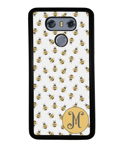 Cute Little Honey Bees Initial | LG Phone Case