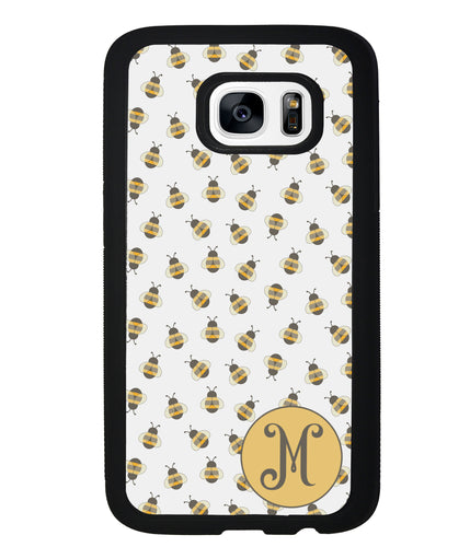 Cute Little Honey Bees Initial | Samsung Phone Case