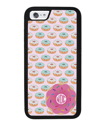 Donut on Donuts Monogram | Apple iPhone Case
