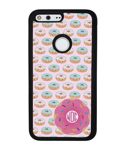 Donut on Donuts Monogram | Google Phone Case