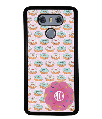 Donut on Donuts Monogram | LG Phone Case