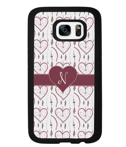 Dream Catcher Hearts Initial | Samsung Phone Case