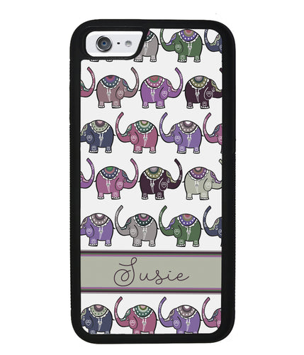 Elephant Tribal Pastel Personalized | Apple iPhone Case