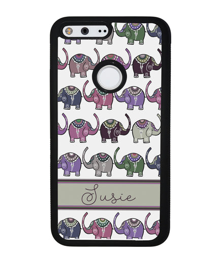 Elephant Tribal Pastel Personalized | Google Phone Case