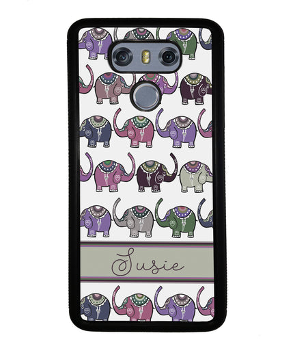 Elephant Tribal Pastel Personalized | LG Phone Case