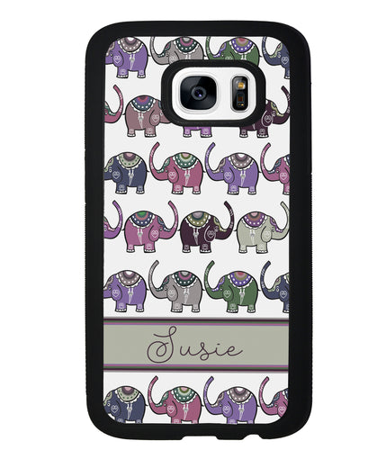 Elephant Tribal Pastel Personalized | Samsung Phone Case