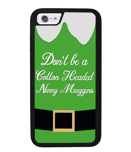 Christmas Elf Movie Quote Cotton Headed Ninny Muggins | Apple iPhone Case
