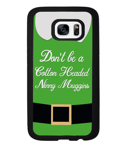 Christmas Elf Movie Quote Cotton Headed Ninny Muggins | Samsung Phone Case