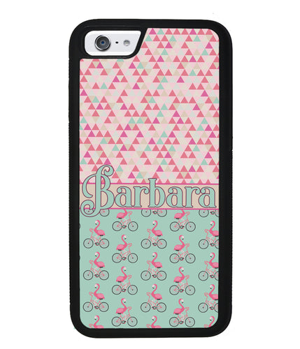 Flamingo's on Bicycle's Personalized | Apple iPhone Case