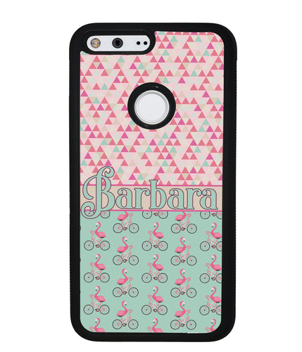 Flamingo's on Bicycle's Personalized | Google Phone Case