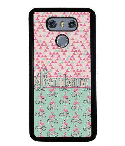 Flamingo's on Bicycle's Personalized | LG Phone Case
